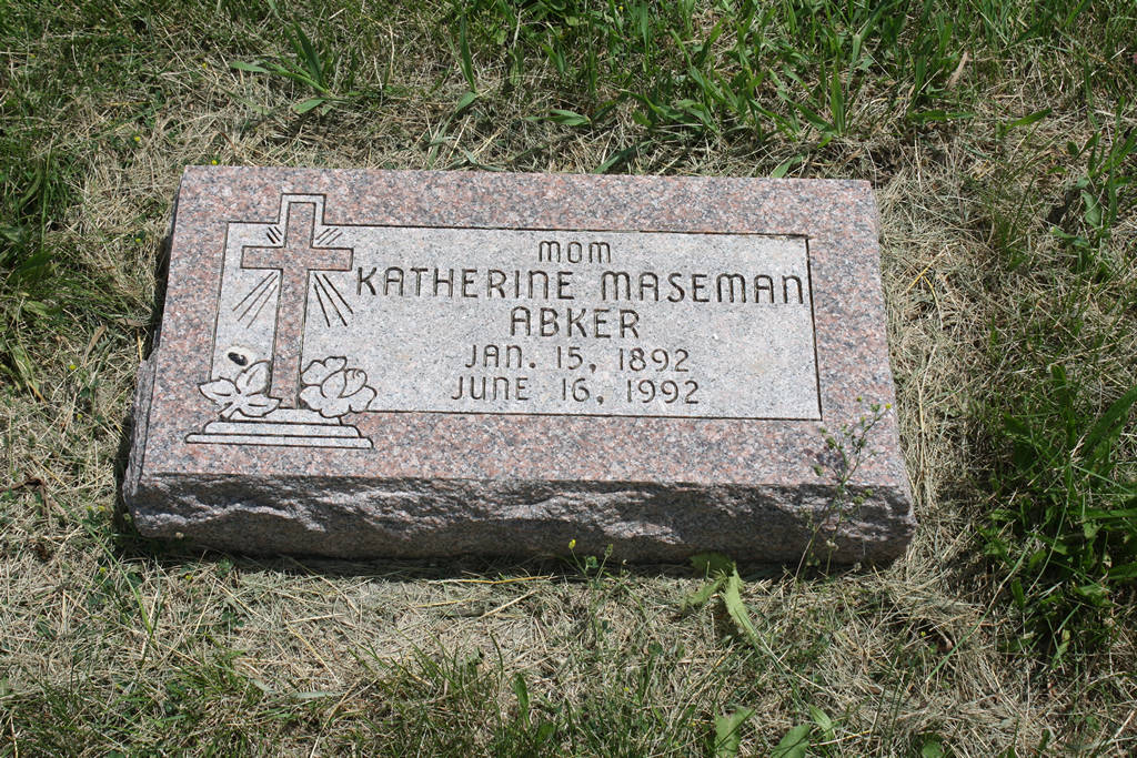 Katherine Abker Grave Photo