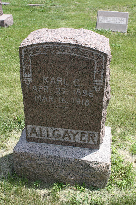 Karl C. Allgayer Grave Photo