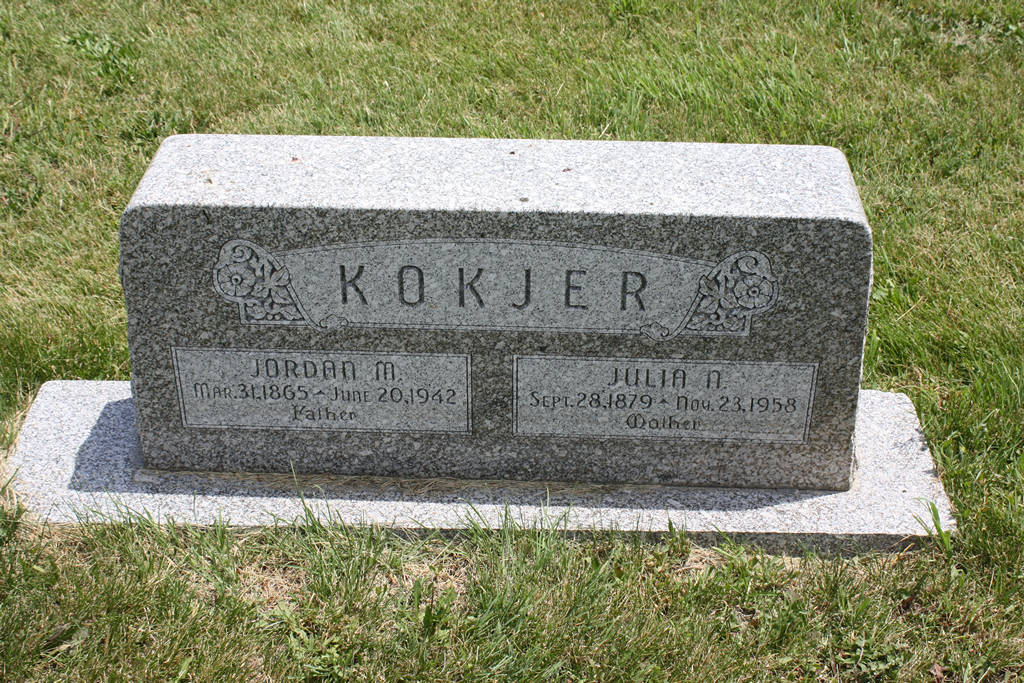 Jordan M. Kokjer Grave Photo