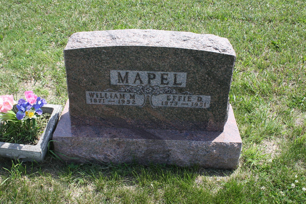 Effie D. Mapel Grave Photo
