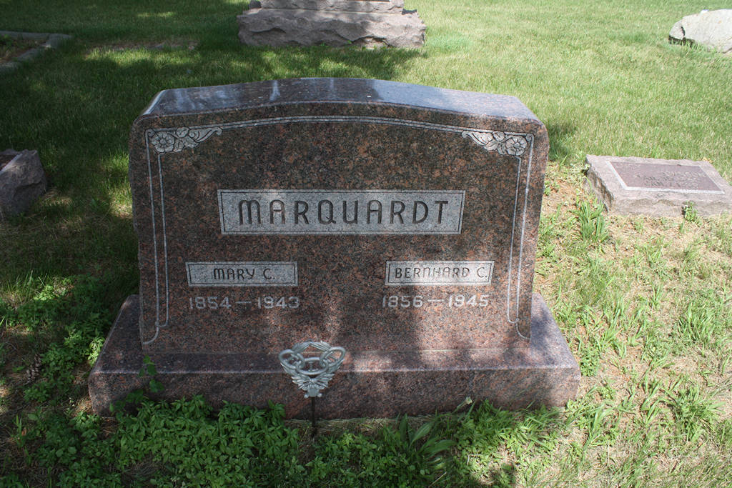 Bernhard C. Marquardt Grave Photo
