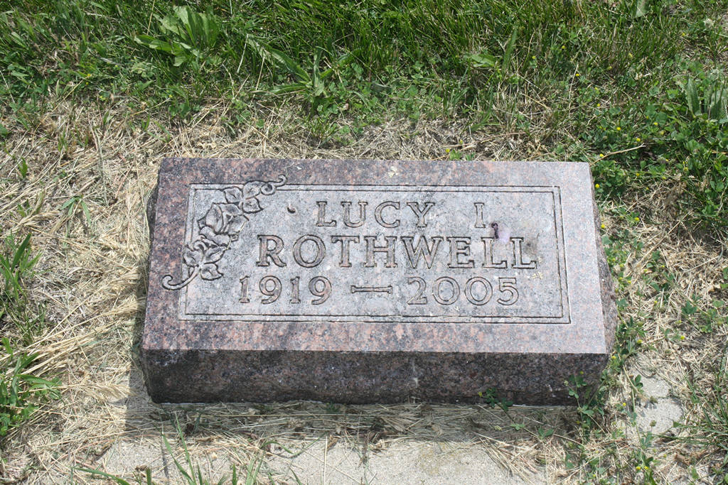 Lucy I. Rothwell Grave Photo