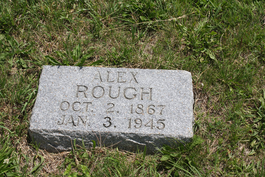 Alex Rough Grave Photo