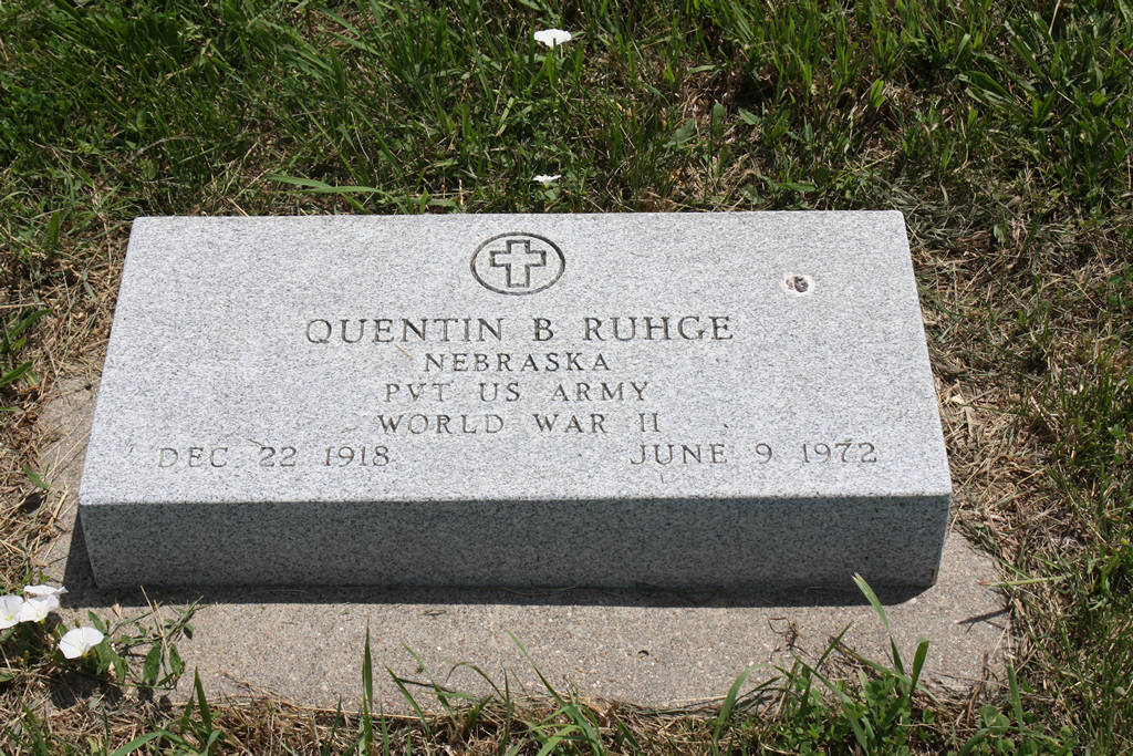Quentin B. Ruhge Grave Photo