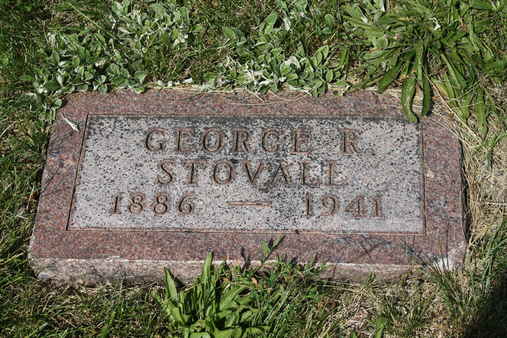 George R. Stovall Grave Photo