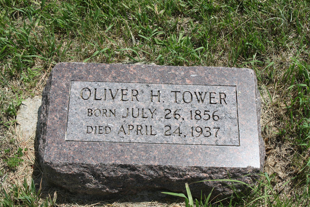 Oliver H. Tower Grave Photo